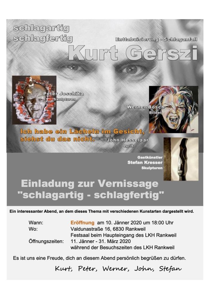 Einladung Ausstellung - schlagartig